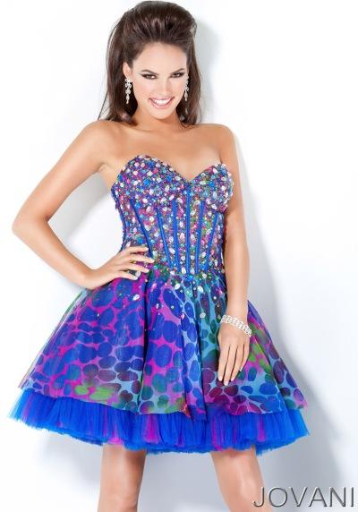 Prom Dresses Short on Jovani Short Multi Color Prom Dress 3806 Image