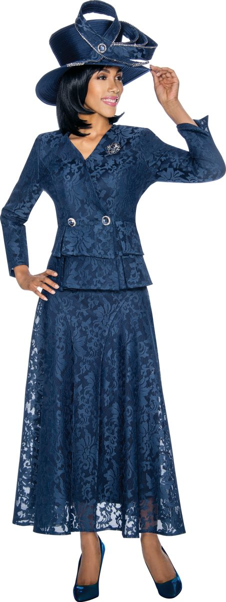 Susanna 3860 Ladies Lace Church Suit French Novelty