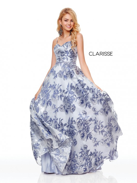 957668d865c2 Clarisse 3871 Floral Organza Prom Dress: French Novelty