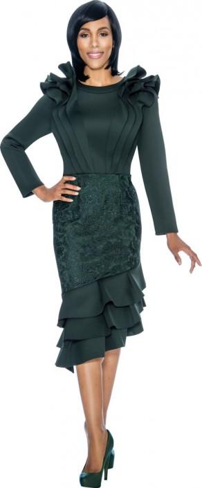 Susanna 3877 Ladies Ruffle Church Dress