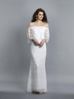 0088d7fe4165 Dave and Johnny 3905 Off Shoulder Lace Prom Gown