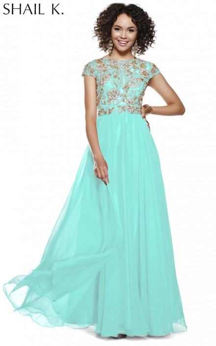 Shail K 3925 Racy Exclusive Chiffon Prom Dress: French Novelty