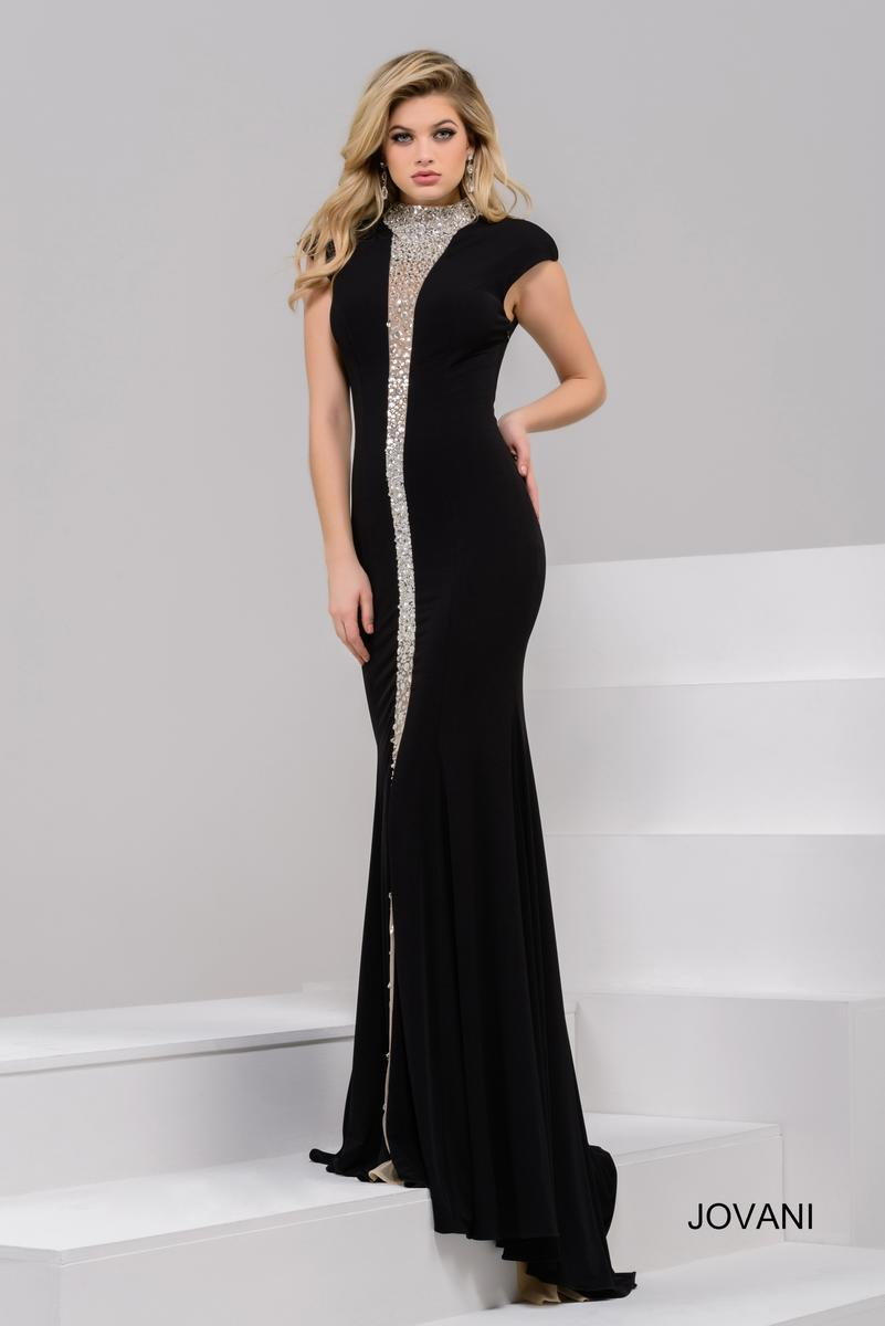 Jovani 39374 Gown with Sheer Beaded Panel: French Novelty - photo #41