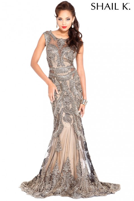 d7cd4179e64 Shail K 3967 Classy Evening Gown  French Novelty