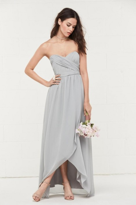 arrives where to buy save off Wtoo 401 Ruched Tulip Chiffon Bridesmaid Dress