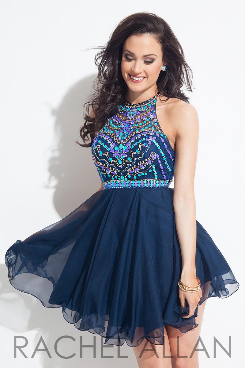 Rachel Allan 4013 Short Homecoming Dress: French Novelty