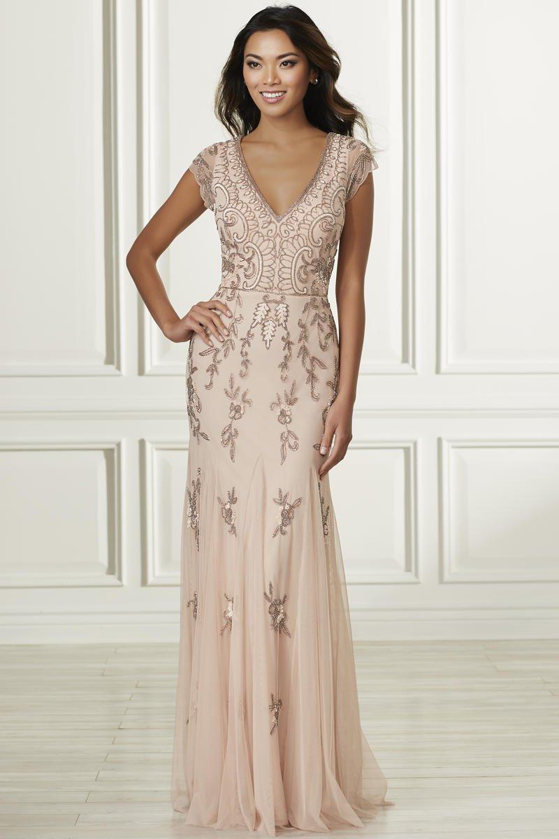 Size 12 Blush Adrianna Papell Platinum 40160 Bridesmaid
