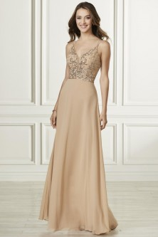 b0306fecf9 Adrianna Papell Platinum 40179 Strappy Back Bridesmaid Dress