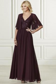 3989a442ef Adrianna Papell Platinum 40182 V Neck Bridesmaid Dress