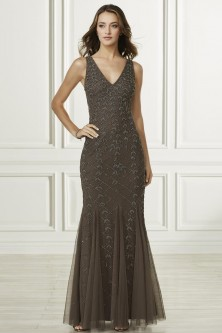 3b1868d28f Adrianna Papell Platinum 40184 Godet Beaded Bridesmaid Dress