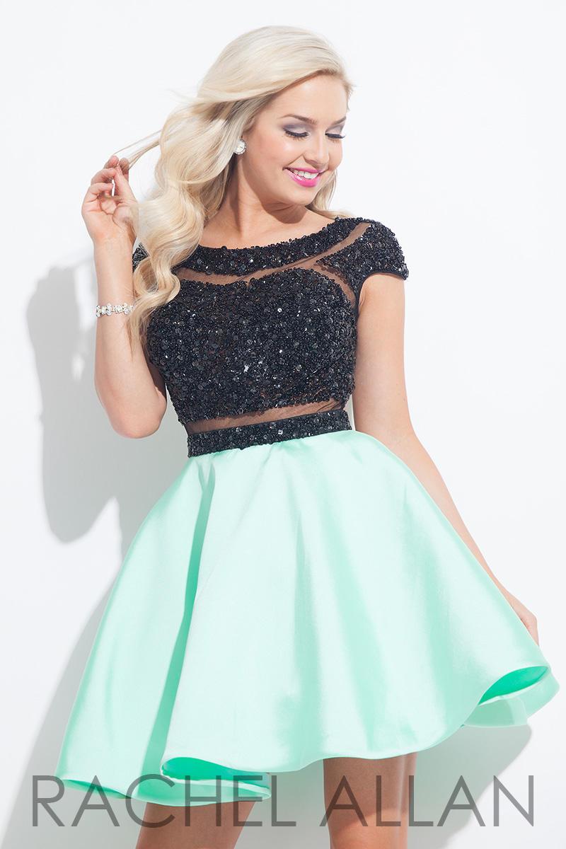 74b74ab80aa Rachel Allan 4023 Cap Sleeve Homecoming Dress  French Novelty
