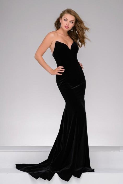 5c17a105a84 Jovani 40786 Velvet Prom Dress  French Novelty