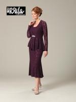 Ursula of Switzerland 41287T Tea Length Plus Size Mothers Dress image