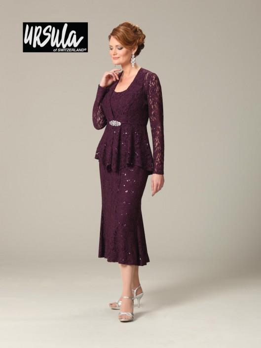 77091e48bd5 Ursula of Switzerland 41287T Tea Length Plus Size Mothers Dress  French  Novelty