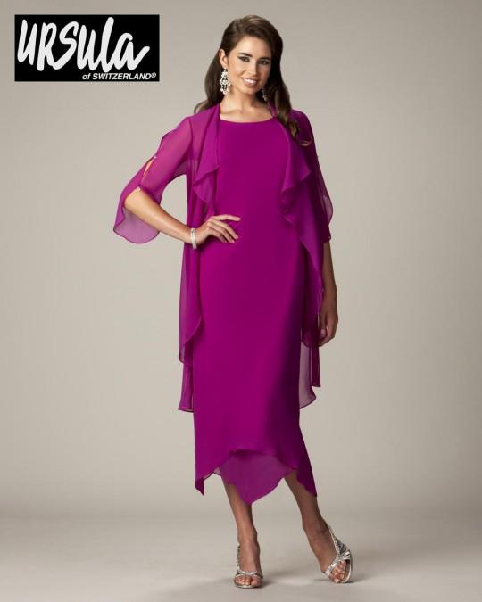 22cbeb535de Ursula 41309T Plus Size Tea Length Hanky Hem Dress  French Novelty