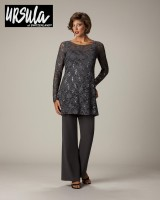 Ursula 41327 Plus Size Mothers Lace Pant Suit image