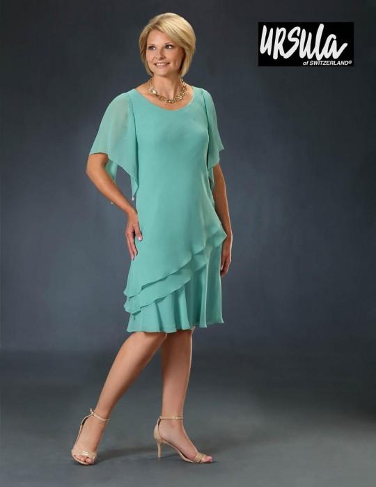 Ursula 41518 Plus Size Short MOB Dress