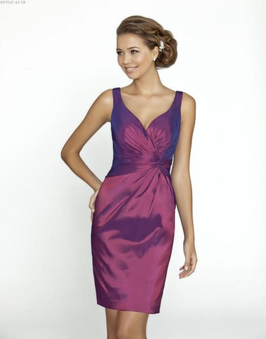 c2c751ade494 Alexia Designs 4178 Short Taffeta Bridesmaid Dress: French Novelty