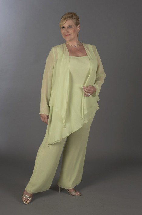 0a1c3bba6bc Ursula Plus Size Formal Chiffon Pant Suit 41882  French Novelty