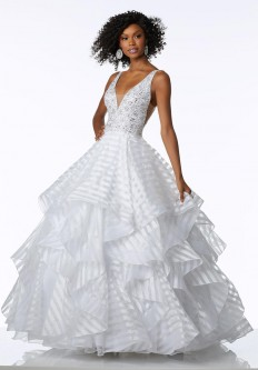 Pink Mori Lee Prom Dress