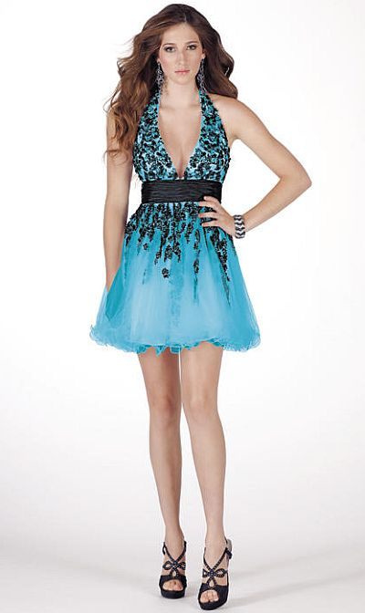 Alyce Paris After Five Cocktail Fun Sexy Short Prom Dress
