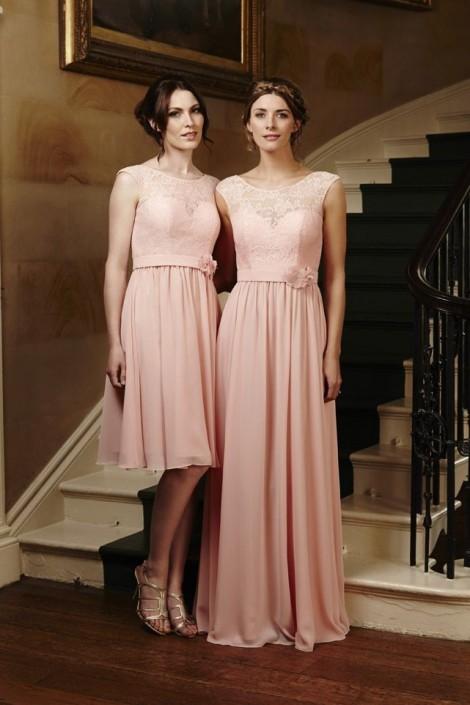 Alexia 4208 Cap Sleeve Lace Short Bridesmaid Dress