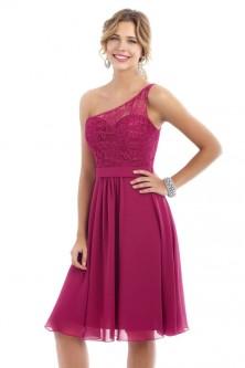 e204003c Alexia 4224 One Shoulder Lace Short Bridesmaid Dress