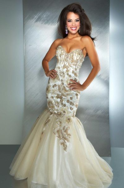 Macduggal 42460m Mermaid Dress With Lace Up Back 42460m