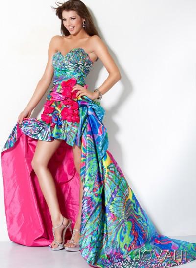 8cd841bb759 Unique Fashions Pageant Dresses on Jovani Unique High Low Print Prom Dress  4259 Image