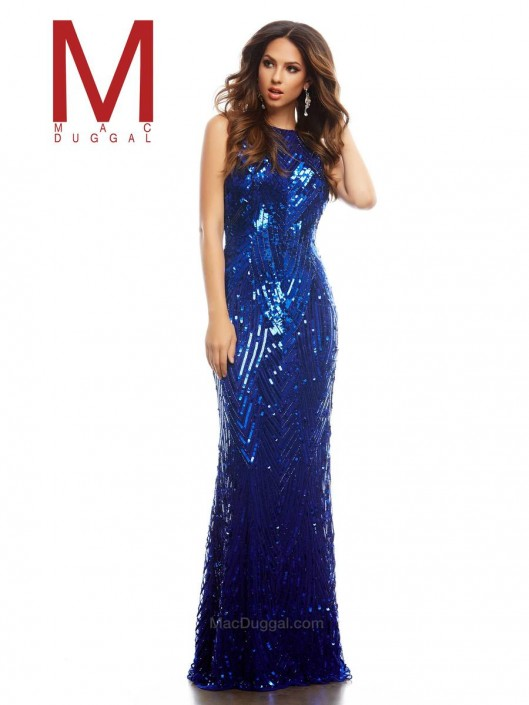 Cassandra Stone by Mac Duggal 4275A Sequin Cowl Back Gown: French ...