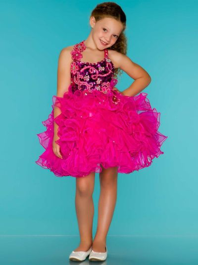 Sugar By Mac Duggal 42771s Girls Short Cupcake Pageant