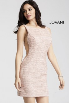 2df5f901aee3 Jovani 42863 Jersey Cocktail Dress with Sheer Sides