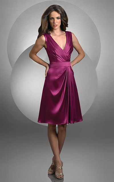 313aa34c7d7 Size 12 Raspberry Bari Jay Cocktail Length Bridesmaid Dress 430  French  Novelty