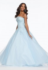 7fe67192eaa2 Size 2 Light Blue Morilee 43009 Perfect Prom Gown