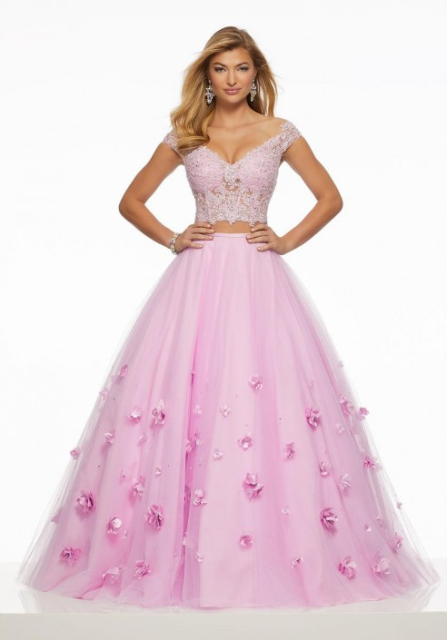 d9275a72ae5 Morilee 43016 Two Piece 3D Flowers Prom Gown  French Novelty