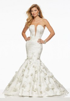 84518b02b5 Morilee 43025 Mermaid Prom Gown with 3D Flowers