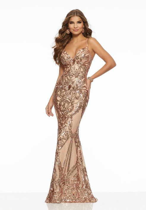 456cef5190cc Morilee 43032 Stunning Sequin Prom Gown: French Novelty