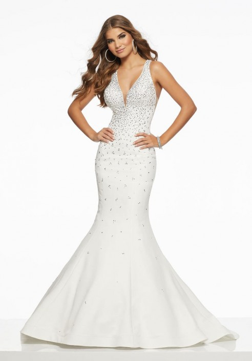 b5a4a3c5b8c75 Morilee 43051 Low Back Mermaid Prom Gown: French Novelty