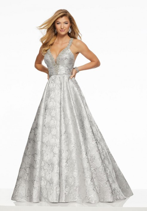 a3db89abfb Morilee 43070 Metallic Brocade Prom Gown  French Novelty