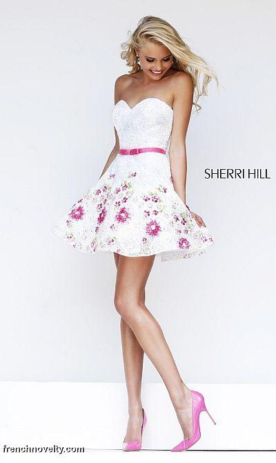 Sherri hill 4310 floral beaded short dress french novelty sherri hill 4310 floral beaded short dress mightylinksfo
