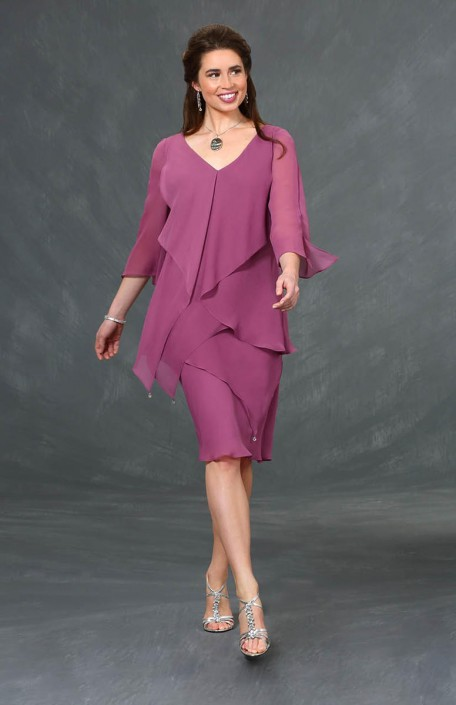 f5b6c1e4ce3 Ursula 43308 Tiered Short Plus Size Dress  French Novelty