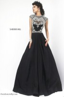Sherri Hill 4332 Cap Sleeve Evening Dress image
