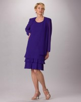 Ursula Plus Size Knee Length Tiered Jacket Dress 43593 image