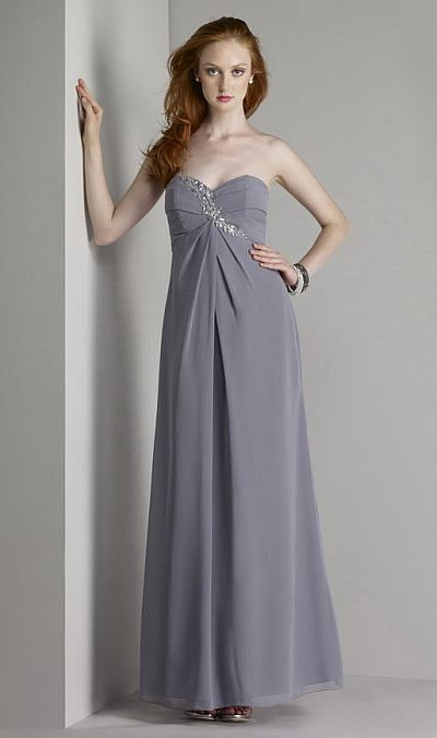 Size 8 Charcoal Liz Fields Bridesmaid Dress 436 French Novelty
