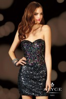Alyce Paris 4391 Allover Sequin Cocktail Dress image