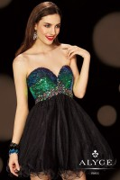 Alyce Paris 4394 Rainbow Sequin Short Dress image