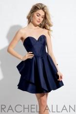 63dda003010 Size 0 Navy Rachel Allan 4411 Short Mikado Party Dress
