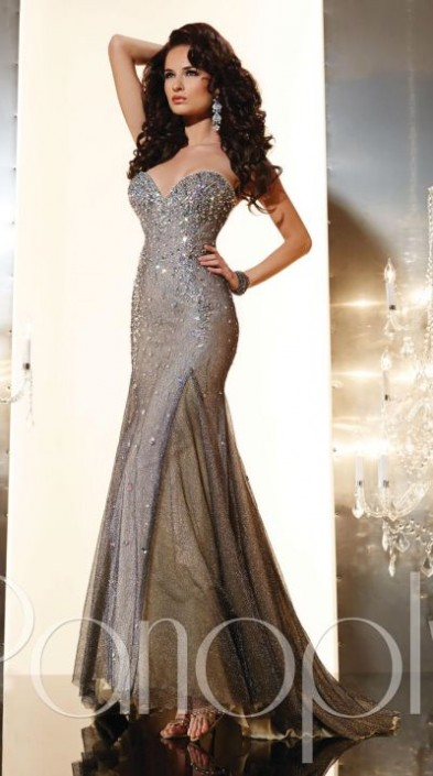 ee6aa7888f4 Panoply 44230 Metallic Evening Dress  French Novelty