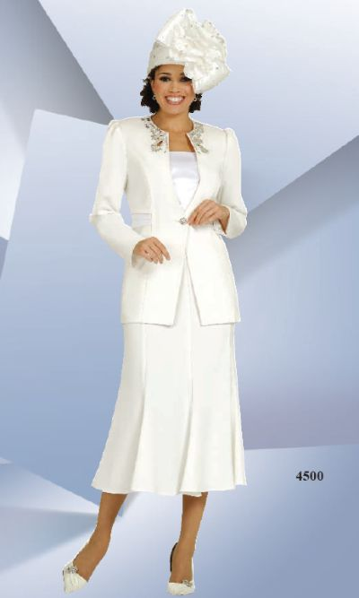 Ben Marc Off White Womens Church Suit 4500 French Novelty