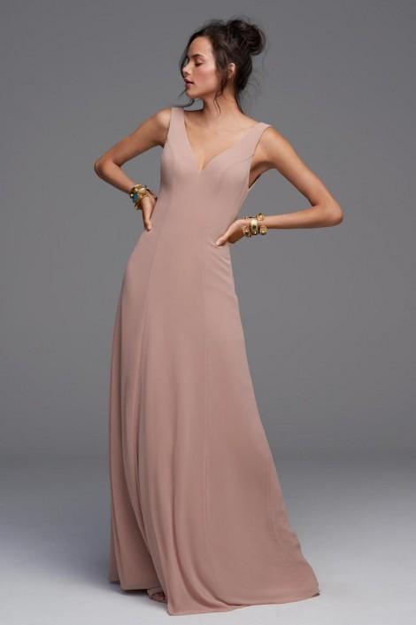 01f522cfa0 Watters 4502 Garnet Scoop Back Bridesmaid Dress  French Novelty